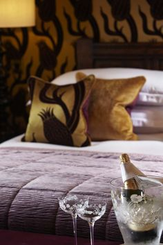 A chilled bottle of bubbles awaits your arrival...