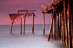 After The Storm by Bonnie Rovere - Shot of the Frisco Pier in Hatteras, NC Click on the image to enlarge.
