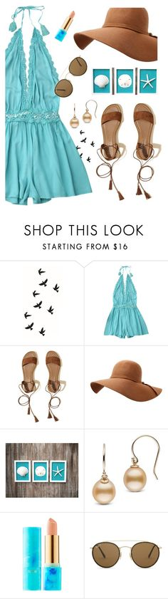 """Untitled #3179"" by deeyanago ❤ liked on Polyvore featuring Hollister Co., tarte and Ray-Ban"