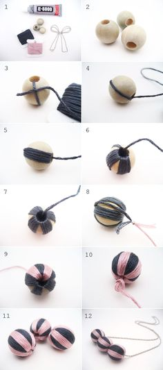 DIY - Wrapped Bead Necklace Tutorial | Adorablest