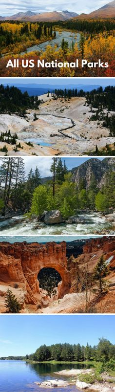 All US National Parks: From sea to shining sea