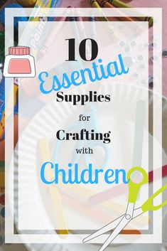 A list of the top ten craft supplies to use when crafting with young children. Includes a subscription for 52 crafts through the year that are easy and only use the 10 essential supplies. These fun crafts are easy to do with your toddler and preschooler a Activities For 1 Year Olds, Activities To Do, Toddler Preschool, Toddler Crafts, Fun Crafts, Crafts For Kids, Family Schedule, 10 Essentials, Family Crafts