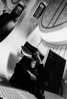 Kubrick on the set of 2001 // from a very cool photo series from the production.