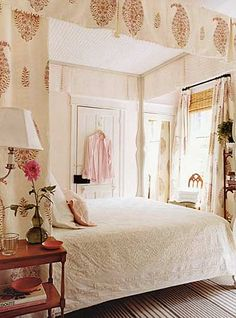 Indo chic... looks like it is lined in chenille bedspread fabric...not sure what I think!