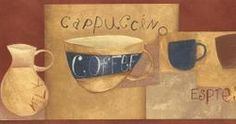 Coffee Wallpaper Border CU78236 CLEARANCE!! QUANTITIES LIMITED!