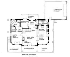 This ranch design floor plan is 3304 sq ft and has 3 bedrooms and has bathrooms. Lake House Plans, Mountain House Plans, Best House Plans, Dream House Plans, Bungalow Style House, Site Plans, Ranch Style Homes, Custom Home Designs, Build Your Dream Home