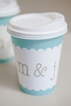 DIY Wedding :: How to make darling, personalized coffee cup sleeves for any wedding event!