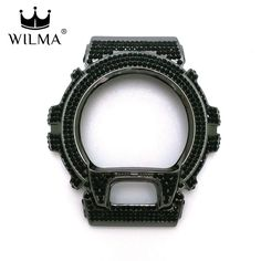 WILMA Chrome Black x Black Jet Crystal Bling Metal Bezel GD-X6900 C-X6900-2G6…