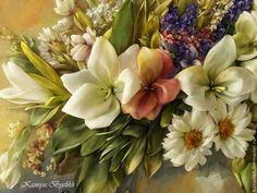 Купить Букет с лилиями - разноцветный, букет цветов, лилии, гладиолусы, букет с лилиями, букет с гладиолусами