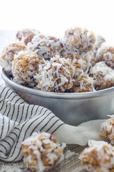 These No-Bake Coconut Krispie Date Balls are made with dates and Rice Krispies and rolled in coconut. This classic Christmas cookie is a requirement in my house!