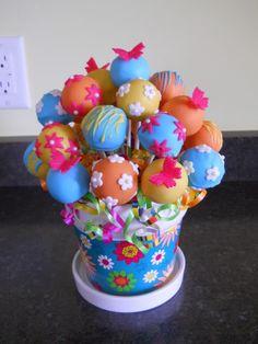 cake pop decorating | cake pop bouquet