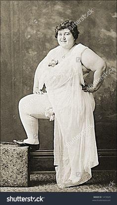 Vintage Portrait Of Plump Woman