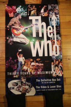 The Who - Rare Promotional Poster FOR SALE