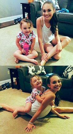 Maddie and her little cousin!<3