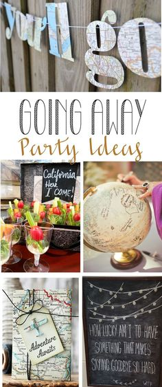 Remodelando la Casa: Going Away Party Ideas - Graduation - Party College Parties, Retirement Parties, Grad Parties, Trunk Party Ideas College, Farwell Party Ideas, Moving Away Parties, Leaving Party, Bon Voyage Party, Goodbye Party