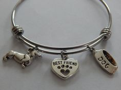 Best friend heart with paw print Dachshund and by HarminysPlace