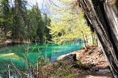 Crestasee (Cresta) Lake, Flims, Switzerland .