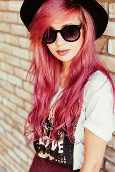 Pinkish long hair