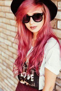 Pinkish long hair
