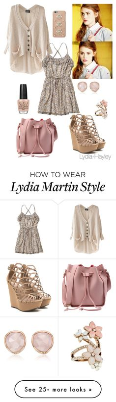 """Lydia Martin inspired"" by lydia-hayley on Polyvore featuring Hollister Co., OPI, MICHAEL Michael Kors, Accessorize and Monica Vinader"