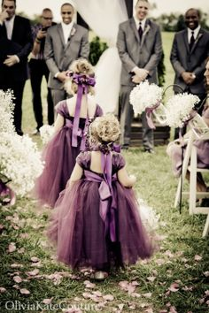 Plum+Flower+Girl+Dress+by+OliviaKateCouture+on+Etsy,+$145.00  Imagine these in a beautiful flaming red. It would be beautiful.