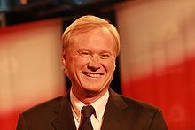 "Christopher John ""Chris"" Matthews (1945-?? ) News Anchor/Liberal Political Commentator. Known for his nightly hour-long talk show, Hardball with Chris Matthews, which is televised on MSNBC"