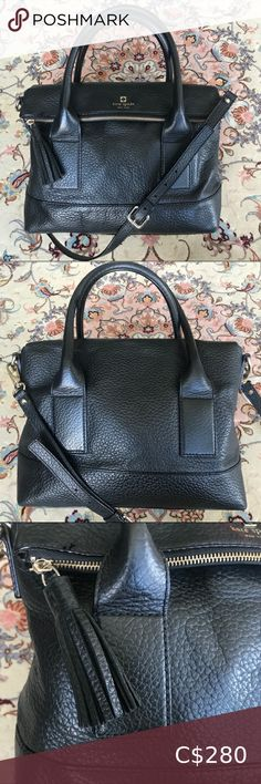 Kate Spade ♠️ Fold over tassel leather bag 👜 SOUTHPORT AVENUE PEBBLED LEATHER CARMEN SATCHEL 👜  🌟in EXCELLENT condition🌟    Dust bag included  ◾️GENUINE COWHIDE PEBBLE LEATHER◾️  You will definitely get your money's worth for this. It will last you a very long time if not a life time 💫 One of those pieces you pass down to the next generation 💞➿💞  Bundle 2+ for 10% off 💵 1st time shopping on Poshmark? Use the code MORECANS for $15 off❣️💰 kate spade Bags Satchels Leather Satchel, Pebbled Leather, Leather Purses, Kate Spade Satchel, Kate Spade Purse, Kate Spade Wellesley, Fair Price, Time Shop, Nylon Bag