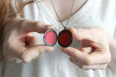 Tinted #LipBalm #Locket - no more rooting around in the bottom of your bag.