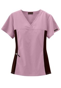 Cherokee Flexibles crossover scrub top in Pink Blush