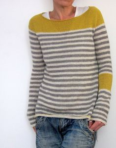 Max (against all odds) by Isabelle Kraemer ~ top down with a contiguous set in sleeve and knit in a 4ply Fingering yarn of merino and cotton