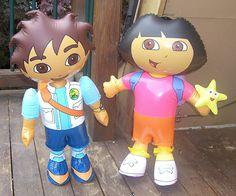 "Dora and Deigo 24"" Inflatables Great for Kid's Room   eBay"