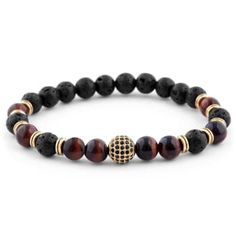 Tiger's eye & Coconut Miro Bracelet | In stock! | Lucleon