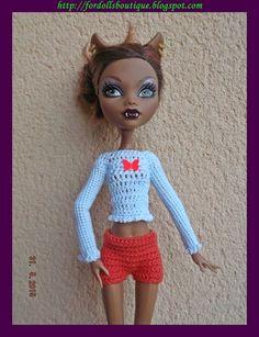 Jersey + shorts para Monster High de mamimonster por DaWanda.com