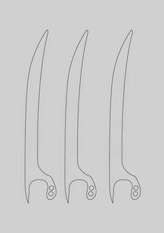 dali-lomo: X-Men Wolverine Claws - Cardboard DIY (with template)