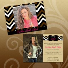DIY Chevron Graduation Invitation by Eleven Eleven Pixel, $10.00