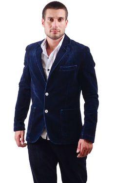 It's like wearing a plush, felt, jean jacket that cloaks you in awesome! https://www.cityblis.com/5976/item/15846   5328 - $270 by RNT23 Jeans      #Blazers/SportCoats