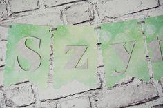 dekoracje na roczek #birthday #party #partyideas #kidsparty #banner #mint #grey #decor #handmade #craft #cricutexplore