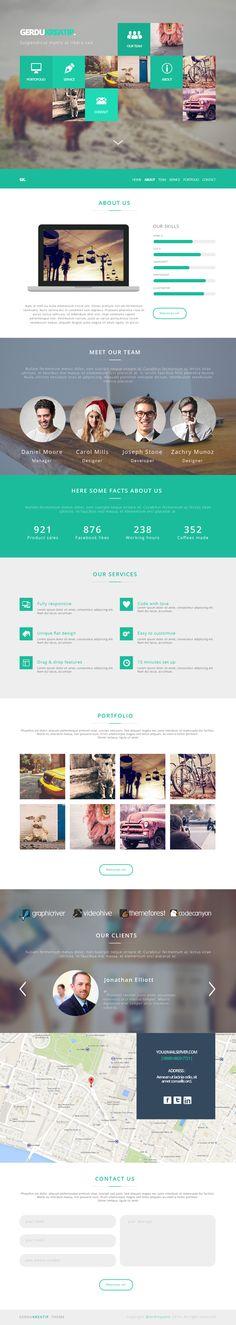 GerduKreatip - Agency Portfolio Theme by Andreansyah Setiawan, via Behance #website #webdesign #design #web #internet #site #webdesigner #designer #layout #template #theme #ui #ux #responsive #pikock www.pikock.com