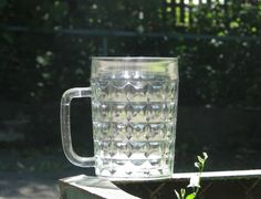 Vintage soviet glass beer mug  Made in USSR by OldBox on Etsy, $10.00