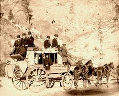 Perhaps the most historic stagecoach in existence is the famous Deadwood coach, which was carried for many years by Buffalo Bill in his Wild West shows all over America and Europe. This coach was built by the Abbott-Downing Company, of Concord, New Hampshire, in 1863, fitted with the thorough brace springs which made the Concord coaches the most popular used on the great trails.