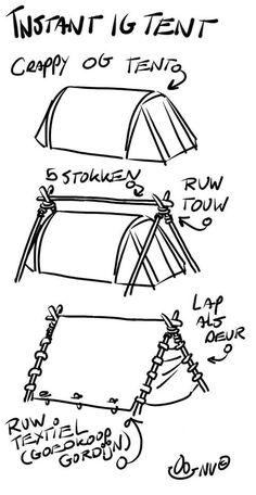 Middeleeuwse tenten kunnen erg duur zijn. Wil je toch in het spelgebied slapen? Probeer dan zo iets!