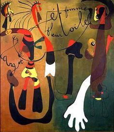 Escargot,femme,fleur,etoile by Joan Miró Spanish Painters, Spanish Artists, Hieronymus Bosch, Miro Artist, Modern Artists, Pablo Picasso, Oeuvre D'art, Street Art, Abstract Art