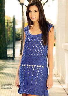This site is a virtual gold mine of chart crochet patterns of absolutely delightful, sleazy and/or classy dresses. Go there, young pinner!