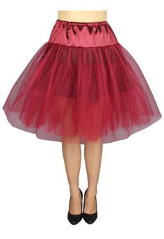 Plus Size Burgundy Red Gothic Rockabilly Retro 50s Organza Petticoat 1X-2X 3X-4X #MysticCrypt #Petticoat