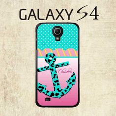 Samsung Galaxy S4 Case  Turquoise Leopard Anchor by mylittlecase, $15.95