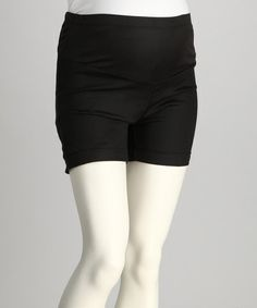 Look what I found on #zulily! Black Mid-Belly Maternity Shorts #zulilyfinds