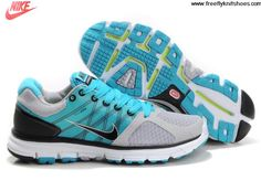 aade87d8f5a1 2013 Mens Nike Lunarglide 2 Wolf Grey Black Chlorine Blue Pure Platinum  Fashion Shoes Shop Running