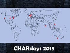 Event locations for CHARdays 2015 Event Locations