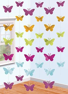 Paper butterflies are beautiful for home and party decorations. They are used to create beautiful settings, decorate cakes and sweets or even to embellish Luau Party Decorations, Butterfly Decorations, Party Themes, Wall Decorations, Butterfly Birthday Party, Online Party Supplies, Paper Butterflies, Papillon Butterfly, Diy Butterfly