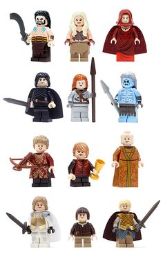 Unofficial Game Of Thrones LEGO Minifigs [Pic]